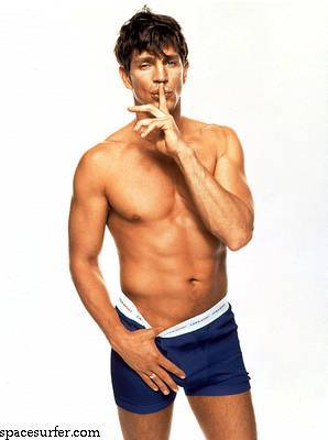Hottest Actors wallpaper with swimming trunks, a six pack, and a hunk called Eric Roberts <3