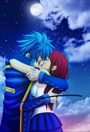 Fairy Tail wallpaper titled Erza & Jellal