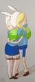 Finn hugs Fionna