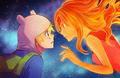 FinnXFlame - adventure-time-with-finn-and-jake fan art