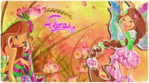 Flora: Harmonix & Sirenix ~ kertas dinding