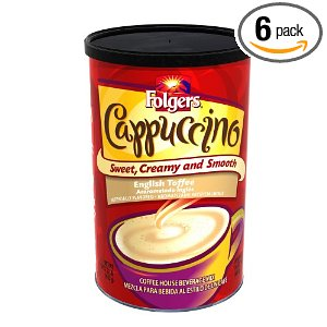 Folgers english toffee capuccino, cappuccino
