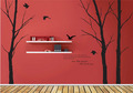 For The People Who amor tu Winter árbol With Flying Birds muro Sticker