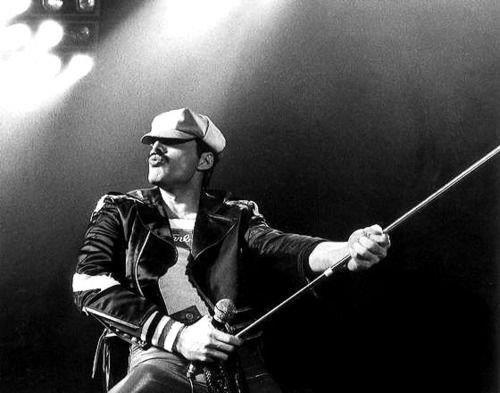 Freddie on stage
