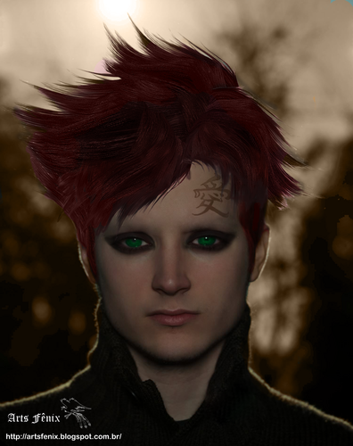 Gaara of Suna achtergrond called Gaara Real