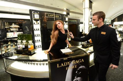 Gaga at Harrods in London
