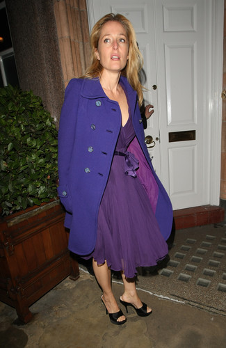 Gillian Anderson: Finch and Joplin dinner Londres