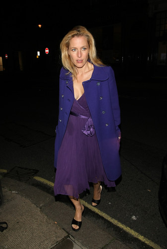Gillian Anderson: finch and Joplin hapunan Londres