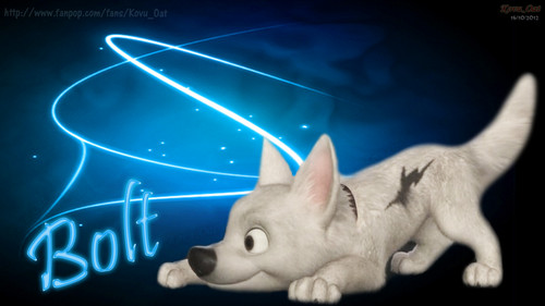 Graphic Art Disney Bolt پیپر وال HD