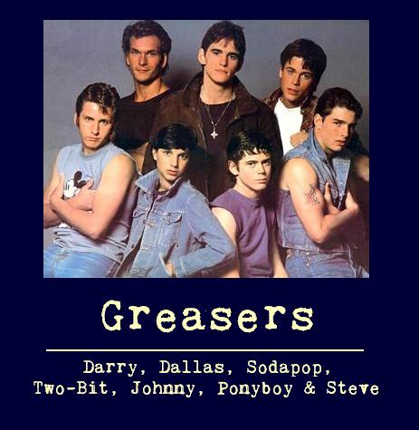The Outsiders achtergrond probably with a portrait called Greaser poster