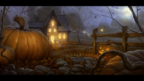 Halloween wallpaper called Halloween House
