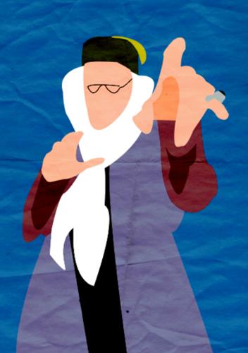 Harry Potter I Minimalist Poster - Dumbledore