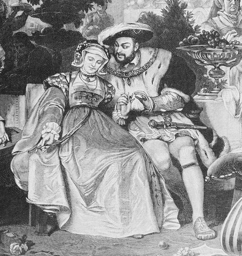Tudor History wallpaper probably with a fountain and anime titled Henry VIII & Anne Boleyn