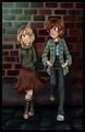 Hiccup and Astrid - dreamworks-dragons-riders-of-berk fan art
