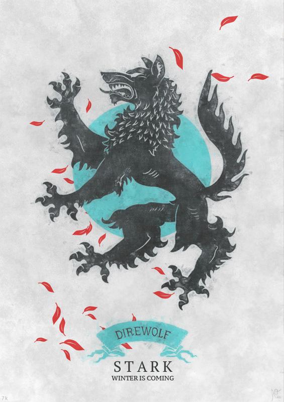 House Stark - House Stark Fan Art (32439883) - Fanpop