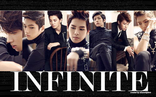 INFINITE wallpaper possibly containing a sign, a well dressed person, and a business suit titled INFINITE Wallpaper!!