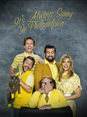 It's Always Sunny in Philadelphia wallpaper possibly with a sign and anime titled ITS ALWAYS SUNNY IN PHILADELPIA