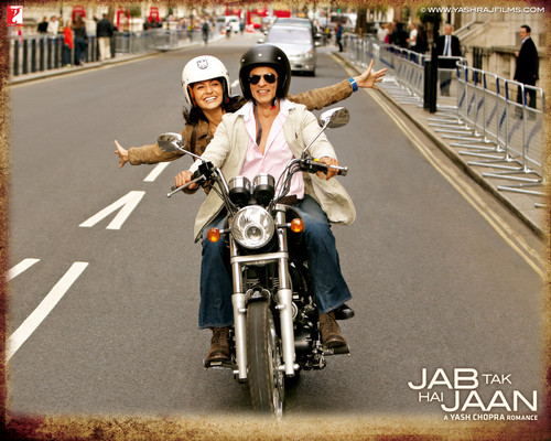 Katrina Kaif wallpaper containing a motorcycle cop called Jab Tak Hai Jaan