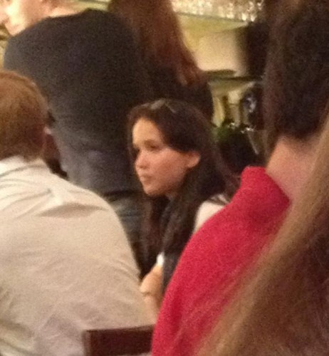 Jennifer Lawrence spotted at a restaurant (6/10/12)
