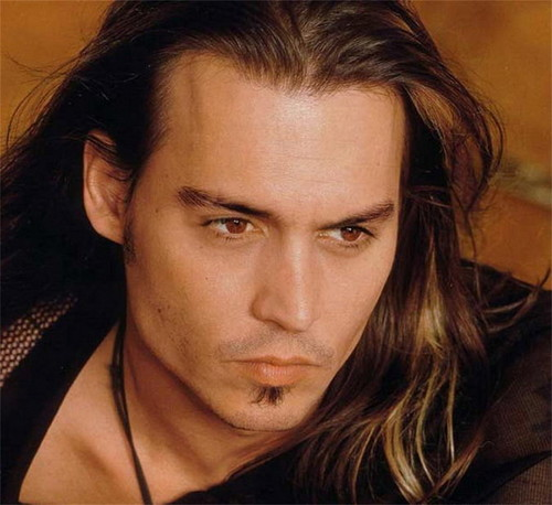 Johnny Depp wallpaper containing a portrait called Johnny with long hair♥♥♥