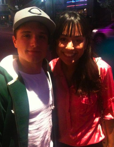 Josh taking pictures with fan tonight at the Film (10.14)