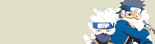 Kakashi and Obito banner
