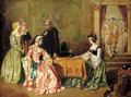 Katherine of Aragon plays cards with Anne Boleyn