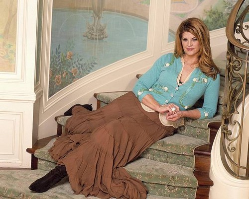 Kirstie Alley wallpaper probably containing a drawing room, a living room, and a den entitled Kirstie Alley