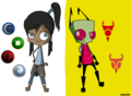 Korra and Zim - invader-zim fan art