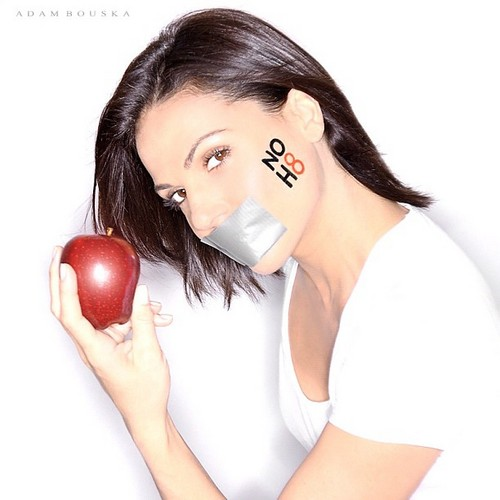 Lana Parrilla- NOH8 Campaign