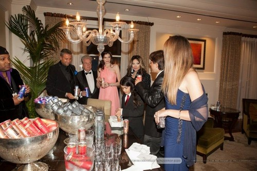 Latoya Jackson, Blanket, Prince and Paris Jackson at Mr rosa Drink Launch Party ♥♥
