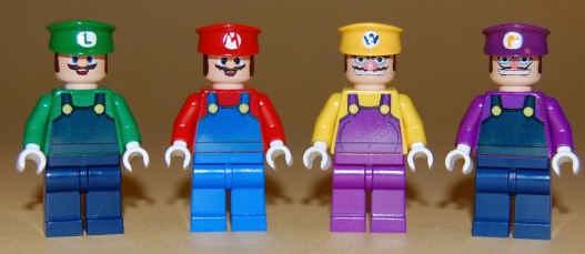 Lego Super Mario Luigi Waluigi Wario