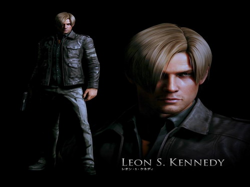 Resident Evil kertas dinding with a business suit, a well dressed person, and a suit called Leon S. Kennedy