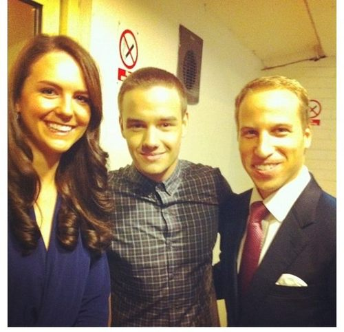 Liam with the Prince William and Duchess Kate.