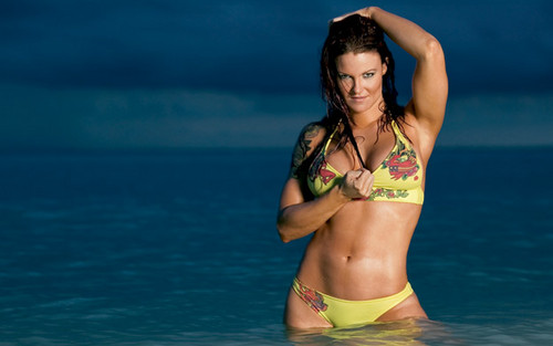 "Amy ""Lita"" Dumas kertas dinding with a bikini titled Lita Photoshoot Flashback"