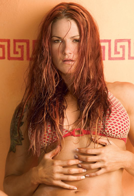 "Amy ""Lita"" Dumas fond d'écran possibly containing a bikini, attractiveness, and a portrait titled Lita Photoshoot Flashback"