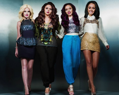 Little Mix پیپر وال probably containing a کاک, کاکٹیل dress, a hip boot, and a playsuit, پلایساٹ titled Little Mix