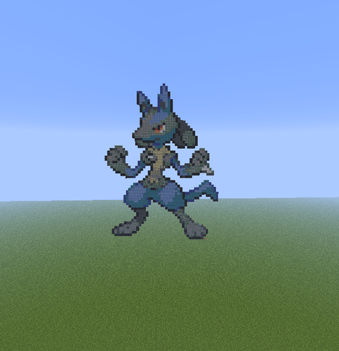 Minecraft Pixel Art! fond d'écran entitled Lucario