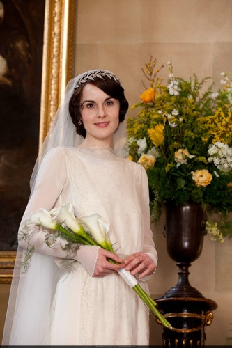 Downton Abbey wallpaper titled Mary and Matthew Crawley Wedding
