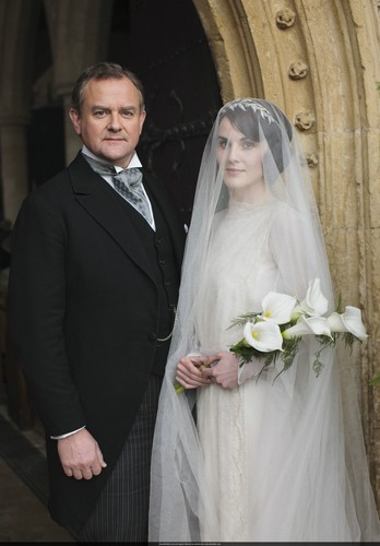 Downton Abbey 壁纸 entitled Mary and Matthew Crawley Wedding