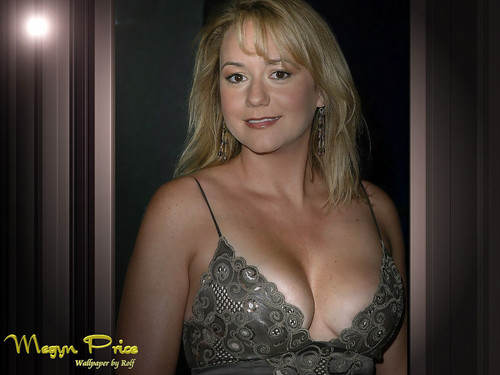 Megyn Price wallpaper probably with attractiveness and a lingerie titled Megyn Price