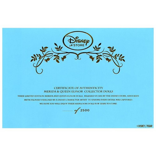 Merida and Queen Elinor Limited Edition Certificate