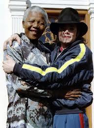 Michael And Good Friend, Nelson Mandela