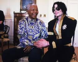 Michael And Good Friend, Nelson Mandela