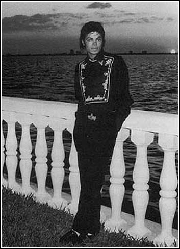 Michael At Barry Gibb's House Back In 1985