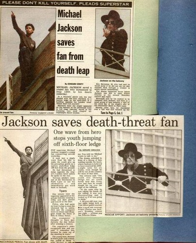 Michael Jackson saves a fans life