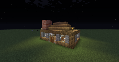 Minecraft پیپر وال with a packing box entitled My usual Survival house and creative one