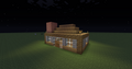 My usual survival house and my serious stuff. - minecraft photo