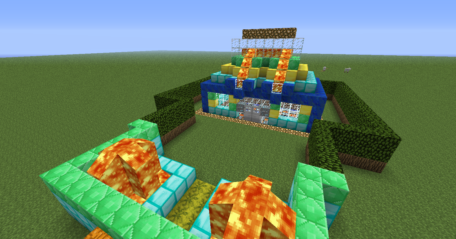 Minecraft my usual survival house and my serious stuff