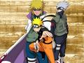 naruto - Naruto, Kakshi and Minato Wallapaper wallpaper